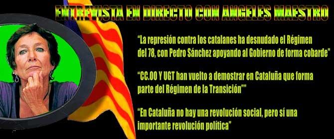 """Nines Maestro: """"El elemento determinante del proceso Catalán es la irrupción de pueblo organizado"""" (vídeo)"""
